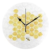 壁掛け時計 部屋飾り 掛け時計 静か 静音 振り子時計 子供 祝い 誕生日 雑貨 見やすい おしゃれ 壁飾り 黄色い蜜蜂の巣の蜂の柱時計