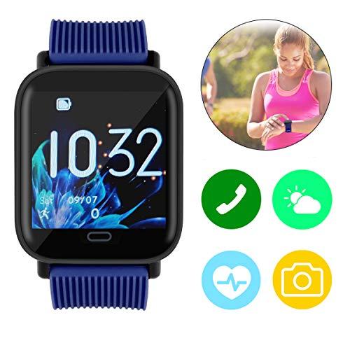 Makerfire Smartwatch Schrittzähler Fitness Tracker Sportuhr für Damen Herren Armband IP68 Wasserdicht mit Schrittzähler Pulsuhren Stoppuhr für iOS Android Handy