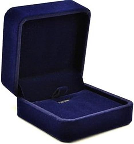 lowest Mallofusa lowest Royal Blue Velvet new arrival Earrings Box Necklace Pendant Gift Box/Jewelry Case sale