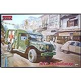 Roden 811 M43 3/4 Tonos 4x4 Ambulance Truck Juego de construcción de maqueta de camión