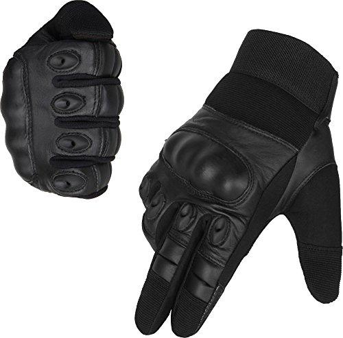 normani Taktische Handschuhe Vollfinger Handschuhe für Motorrad Fahrrad Airsoft Militär Paintball mit Knöchelschutz Größe L