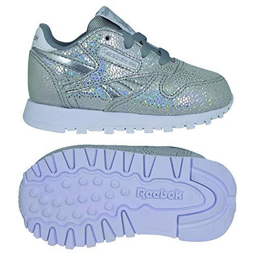 Reebok Classic R, Zapatillas de Gimnasia para Niñas, Plateado (Wow/Silver Met/White/Tin Grey Wow/Silver Met/White/Tin Grey), 25.5 EU