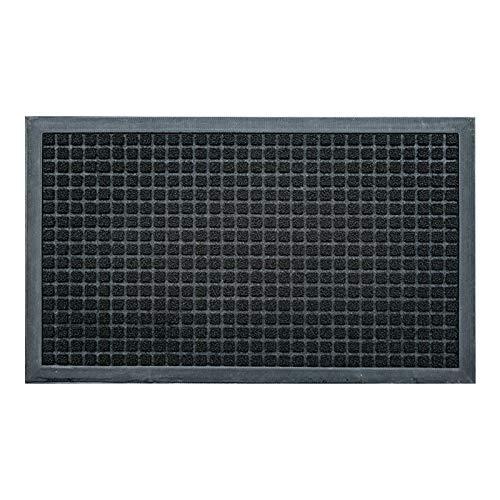 XYH Felpudo, Antideslizante Resistente Al Desgaste Durable Fácil de Limpiar, Floormat Resistente A La Suciedad, de Interior Y Al Aire Libre Felpudo (Color : Negro, tamaño : 45cm×75cm)