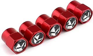 TK-KLZ 5Pcs Metal Skull Logo Car Tire Valve Stem Caps for Chevrolet Corvette C7 ZR1 Decorative Accessory