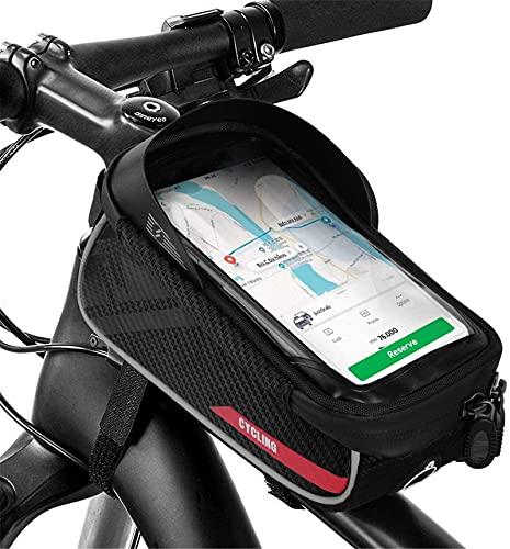 Impermeable Bolsa Para Cuadro De Bicicleta, Soporte Para Teléfono De Bicicleta Con Sensitivo Película De Pantalla Táctil Fácil De Instalar Bolsa Bicicleta Tubo Frontal Para Smartphone Por Hasta 6.7''