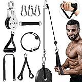 HUET - Sistema di puleggia per cavi fitness per casa e palestra, accessori per allenamento fai da te, sistema di fissaggio per trazioni di lat pulldown, bicipiti, schiena, avambraccio