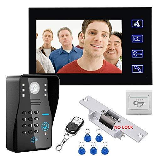 Sistema de intercomunicador para Puerta de teléfono de 7 Pulgadas con conexión...