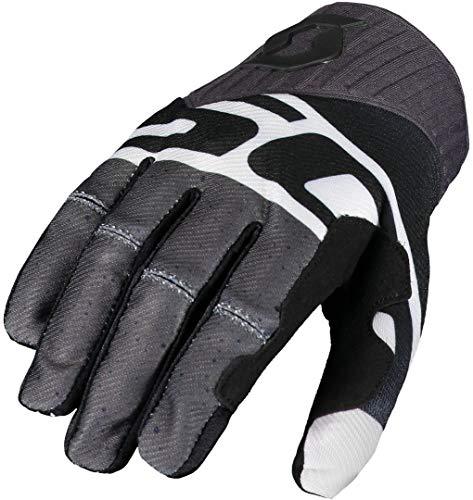 Scott Glove 450 track noir/blanc M