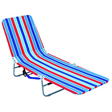 RIO Gear Rio Brands Backpack Lounger Multi Position, Red Blue and Turquoise Stripe