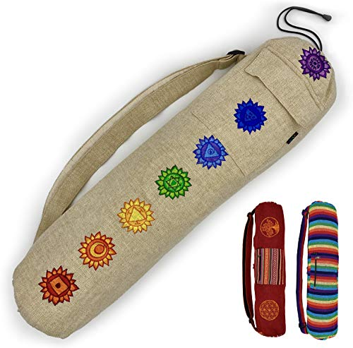 Gringo Fair Trade Compact Yoga Mat Bag | Fit Your Thin Yoga Mat and Yoga Accessories In This...