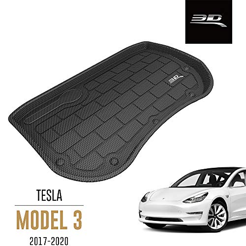 3D MAXpider Tesla Model 3 2017-2019 Passgenaue Allwetter Vordere Kofferraummatte Auto Kofferraumschutz Matte