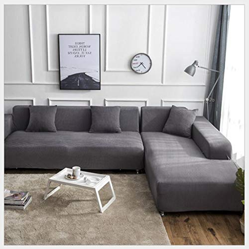 L Shape Sofa Covers 1pcs Solid Color Sofa Covers Stretch Sofa Slipcovers Universal Stretch Polyester Bank van de Stof Hoes Protector Set