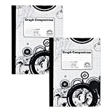 5 x 5 Ruled Graph Composition Book (Pack of Two Books)