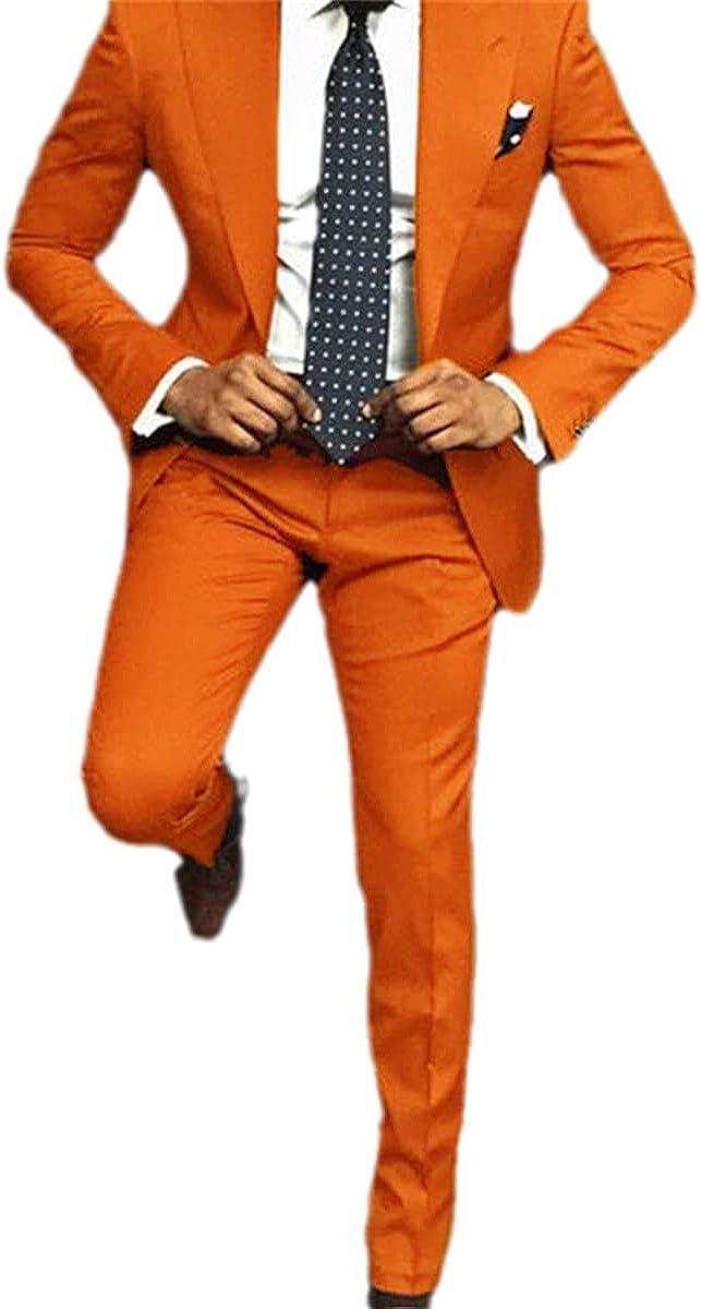 Men's Suit Casual Slim 2Pcs Tuxedo Tailor Groom Professional Party Suit Formal