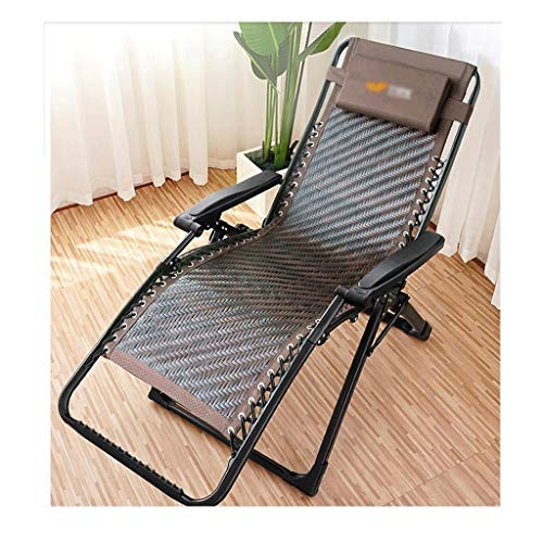 ZHANGJINYISHOP2016 Silla Plegable Plegable reclinable,Rattan Respaldo Silla,sillón reclinable portátil reposabrazos Ajustable for...