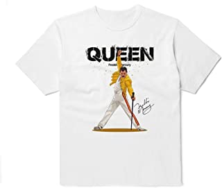 In Memory of Freddie Mercury Queen Mama Oh White T-Shirt Size M Unisex Rock Legends Outfit Printed Colored Clothing Cotton Shirt For Women Men Kids TU1027
