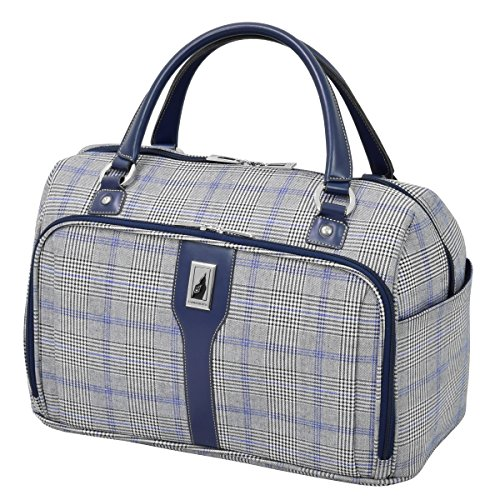 London Fog Knightsbridge Hl17 Cabin Bag, Grey/Navy Plaid