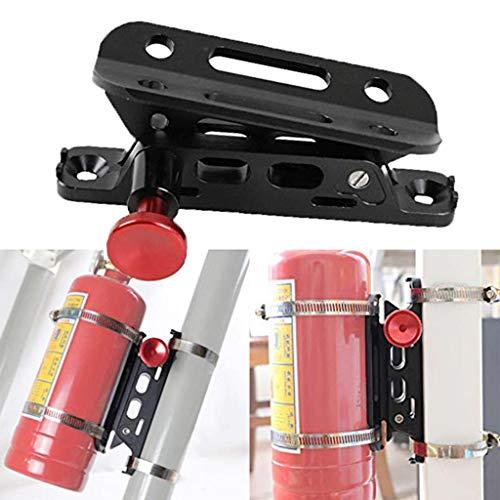 PSLER® Universal Verstellbarer Überrollbügel Halter für Feuerlöscher mit Säule