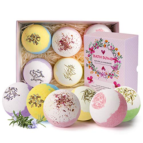 Bath Bombs Gift Set 6 Extra Large 4oz Fizzies,Shea & Coco Butter Dry Skin Moisturize, Perfect for Bubble & Spa Bath. Handmade Birthday Mothers Day Gifts idea for Her/Him, Wife, Girlfriend