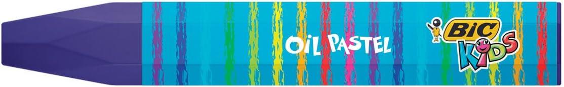 12/couleurs assorties Lot de 12 Bic Kids 933957//ölmalkreide Oil pastels
