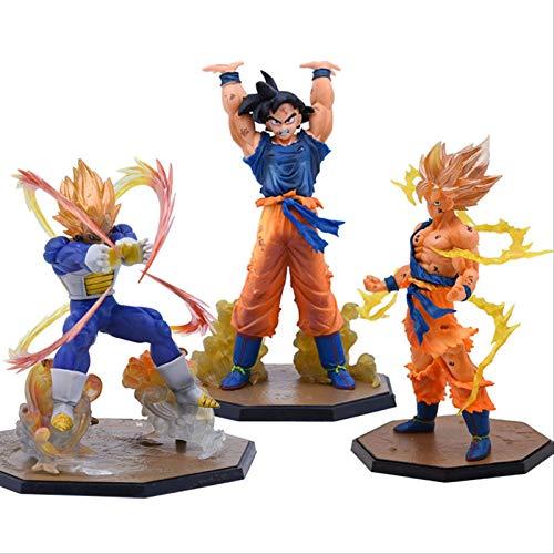 kyman 3 unids Anime Dragon Ball Z Zero Vegeta Son Goku Genki Dama Espíritu Bomba Figura Figura Toy Dragonball Super Saiyan Figuras 13-17cm
