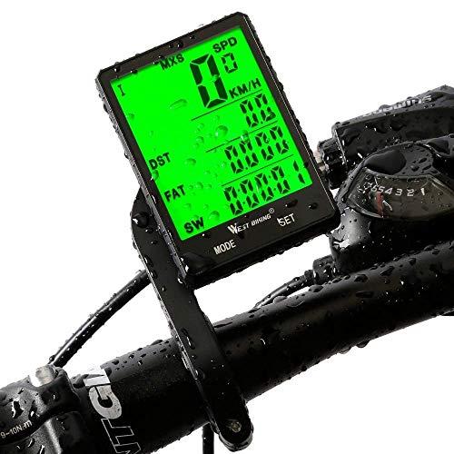 LILICEN 2,8 Grande Schermo BICICLETTO in Computer Wireless Bike Wired Bike Computer Piove Auzional tachimetro Assistenti cronometro for Ciclismo