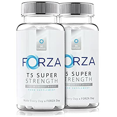 FORZA T5 Super Strength - Strong Diet & Fitness Supplement For Safe Weight Loss - Fat Burners Pills, 180 Capsules