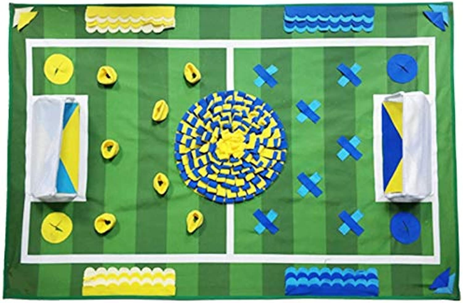 New Football Field Theme Dog Feeding Mat Dog Training Pad Pet Nose Work Blanket Mat for Foraging Skill Release Stress