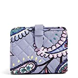 Vera Bradley Signature Cotton Small Wallet with RFID Protection, Makani Paisley