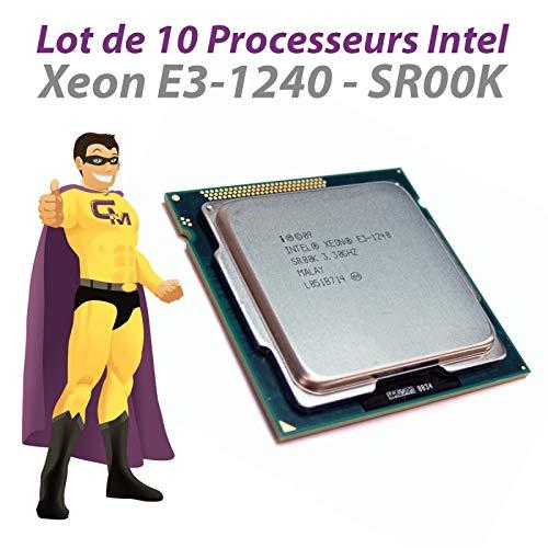 Intel Pack x10 Prozessoren CPU Xeon E3-1240 3.30Ghz SR00K LGA1155 Quad Core 8Mo