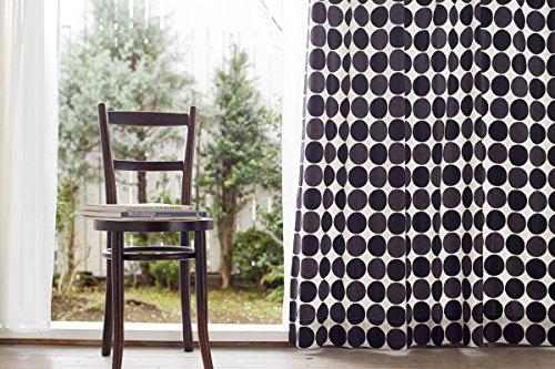 クォーターリポート 16サイズから選べるカーテン チャルカブラック 幅100×丈200cm2枚組 綿100%【日本製】