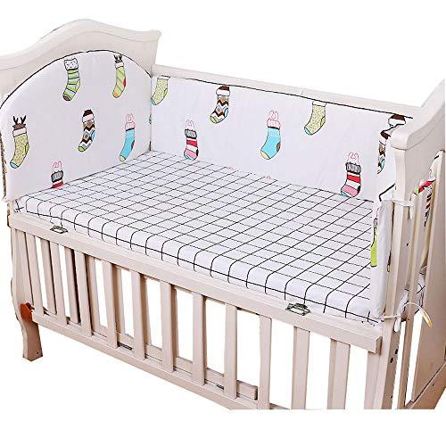 WHL Anti-val veiligheid nachtkastje, katoen actieve verven baby bed bumper fen
