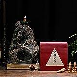 Qeepenl Set de Incienso Yabai Pagoda de Flujo Incienso con Quiet Quemador de Incienso Quemador de Incienso Volver Creativo incensario