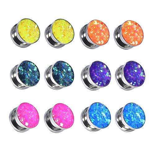 Jboyanpei Coloridas lentejuelas de acero inoxidable con ajuste de tornillo de oreja...