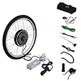 Uniqueheart 48V 1000W Electric Bicycle E-Bike 26inch Front Wheel Conversion Kit Cycling Motor Set Great Replacement Tool