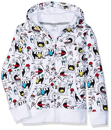 Amazon Brand - Spotted Zebra Toddler Boys Fleece Long-Sleeve Zip-Up Sweatshirt Hoodies, Junk Food Monster, 4T