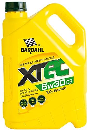 Bardahl Motoröl XTec 5 W30 C2 100% synthetischer Benzin & Diesel 5L