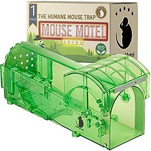 MouseMotel Trampa para Ratones - Altamente Sensible - Fácil de Usar - Seguro para Mascotas y niños - Reutilizable - Sin Mecanismo de liberación táctil (1-Pack)