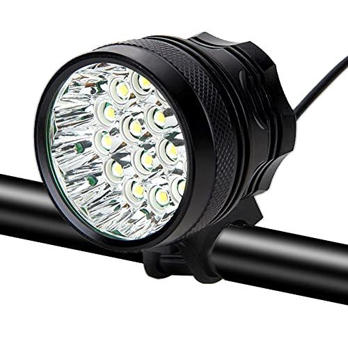 Fahrradlicht, Xaeiow 16 XM-L T6 LED 60000 Lumen Fahrrad Lichter, Wiederaufladbare Radfahren Scheinwerfer für Outdoor-Nachtreiten