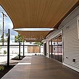 Patio Paradise 8' x 12' Brown Sun Shade Sail Rectangle Canopy - Permeable UV Block Fabric Durable Outdoor - Customized Available