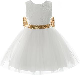 6187714b7e2dc Inlefen Filles Bowknot Dentelle Princesse Jupe D été Paillettes Robes Bébé  Tout-Petits Enfants