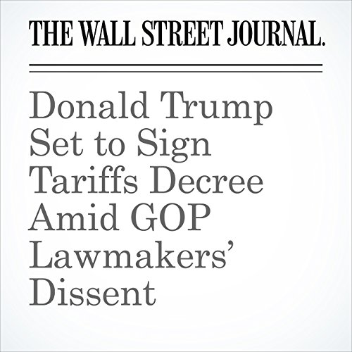 Donald Trump Set to Sign Tariffs Decree Amid GOP Lawmakers' Dissent copertina