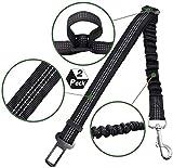 [2 Pack] Cintura di sicurezza per cani e gatti, imbracatura elastica di sicurezza regolabile e resistente per auto con elastico in nylon elastico per evitare che il tuo cucciolo subisca danni