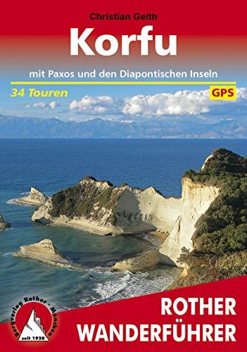 Korfu: mit Paxos und den Diapontischen Inseln. 34 Touren. Mit GPS-Tracks (Rother Wanderführer) (German Edition)