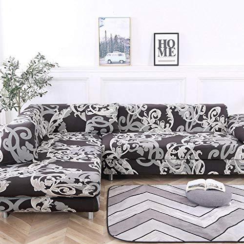 HXTSWGS Funda de sofá de Terciopelo,Elastic Sofa Cover,Living Room Sofa Cover,Sofa Seat Cover,Corner Sofa Slipcover,Furniture Protective Cover-Color 3_145-185cm
