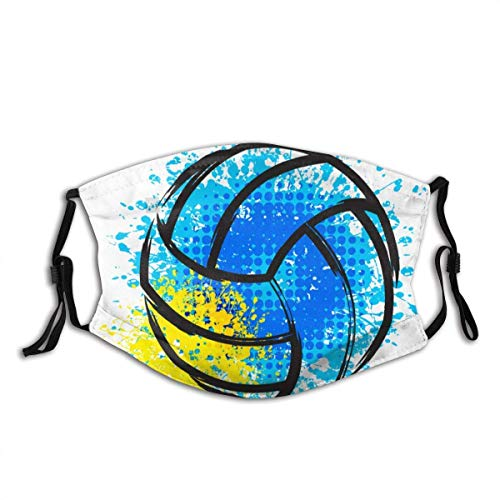 Paint Volleyball Sport Ball Adjustable Face Mask Decorations for Adult Outdoor Multifunctional Comfortable Mask