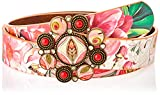 Desigual Belt_VALKIRIA Cinturón, Rojo, 95 cm para Mujer