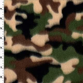 Multi Camo Fleece, Fabric by The Yard