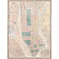 Geography Map Illustrated Antique Dripps New York Art Print Poster Wall Decor 12X16 Inch 地図イラスト付きアンティークニューヨークポスター壁デコ