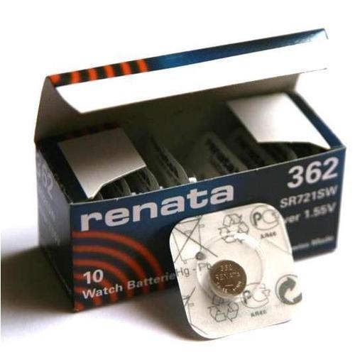RENATA 362 LOT DE 10 PILES SILVER OXIDE 1,5V